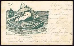 FISHING   SPHYNX  Bait   1906.      Old Postcard - Werbepostkarten