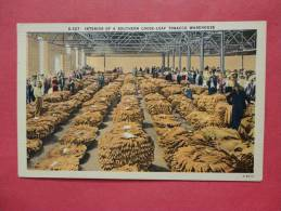 Interior Of A Southern Loose Leaf Tobacco Warehouse- Linen  ==  = == === Ref 681 - Commercio