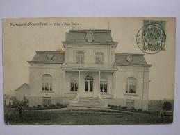 Cp De Stombeek-moerenhont- Villa Mon Désir +cachet Ambulant De Strombeek-bever De 1905 - Grimbergen