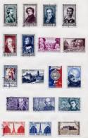 France Année 1951 Obl. Complète : N° 878 à 918 - Cote 87 Euros - TB Qualité - France