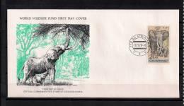 WORLD WILDLIFE FUND, W.W.F., FAUNA EN PELIGRO, ELEFANTE, CHECOSLOVAQUIA 1976, SOBRE PRIMER DIA - Elefanten