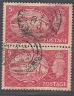 Great Britain, George VI Festival 5/- ( Dover) Perfin  A.N. (sideways), Used Manchester 1955 - 1902-1951 (Kings)
