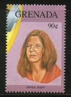 Grenada 1992 Gold Record Winners - Janis Joplin Sc 2156h Music Pop Singer Entertainers MNH # 2935 - Musique