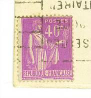 VEND N° 281 SUR CPA : ARC DE TRIOMPHE + VARIETE : MACULAGE ENTRE LES DEUX SIGNATURES !!!! - Variétés: 1931-40 Lettres & Documents