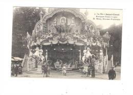 92 - SAINT CLOUD - La Fête N°9 Montagnes Russes à Vapeur - Manège Carrousel Chevaux De Bois Avec Soldat - Cirque