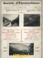 DOCUMENT /  Sté ELECTROCHIMIE / SAINT MICHEL MAURIENNE POMBLIERE SAINT MARCEL..+ ELECTRO METALLURGIE  DIVES / PUB 1917 - Vieux Papiers