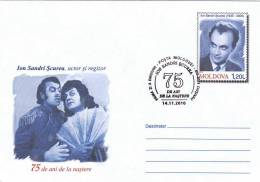 Cinema Film,Ion Scurea;Actor And Director,2010 Oblit.FDC,STATIONERY COVER Entier Postal Moldova . - Kino