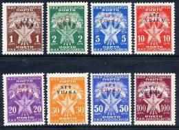 TRIEST ZONE B 1952 Postage Due Overprint Set ** / *.   Michel 11-18 - Postage Due