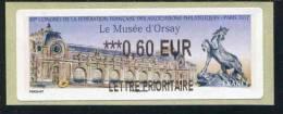 """Vignette D´affranchissement Lisa 2 """"Lettre Prioritaire 0,60 €  - 85e Congrès De La FFAP - Paris 2012 - Musée D´Orsay"""""""" - 2010-... Geïllustreerde Frankeervignetten"""