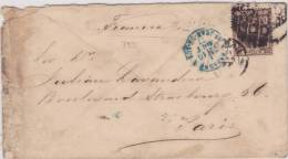 7933# LETRA ALFONSO XII - 1/4 PESETA => FRANCE Via ESPAGNE ST JEAN DE PORT 1877 - 1875-1882 Royaume: Alphonse XII
