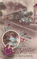 ¤¤  -  LES-LUCS-sur-BOULOGNE  -  Un Bonjour De ...   -  Carte Fantasie  -  Train  -  ¤¤ - Les Lucs Sur Boulogne