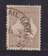 Australia 1915 2 Shilling Brown Kangaroo FU 3rd Wmk Neat Part ´MAIL ROOM´  Cds - 1913-48 Kangaroos