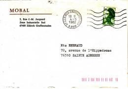 PNU 2184A Roulette Flamme Ondulée Alkich-Graffenstaden Ste Adresse Barres De Tri - Marcophilie (Lettres)