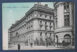 75001 PARIS 1er ARRONDISSEMENT - CP ANIMEE LA GRANDE POSTE ET LE TELEPHONE ( RUE DU LOUVRE ) - Arrondissement: 01