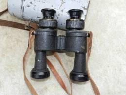 RARE JUMELLES MARINE FRANCAISE HUET Dm-1V 8 X 30 Modéle 1933 + étui Laiton - Optique
