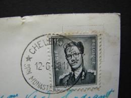 CE. 9. Cachet étoile De  Chevetogne Sur Carte Postale De Chevetogne, Monastère De 1958 - Postmarks With Stars