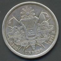 GUATEMALA 1 PESO 1871 R , SILVER - Guatemala