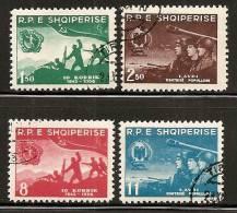 Albania 1958 15th Anniversary Of Albanian National Army, Used (o) - Albanie