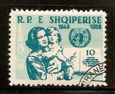Albania 1959 Human Rights, Used (o) - Albanie