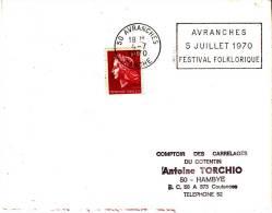 LSI 1583 Flamme Avranches 5/07/70 Festival Folkhorique Hambye - 1961-....