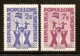 Albania 1961 20th Anniversary Of Albanian Workers Party, MH (*) - Albanie