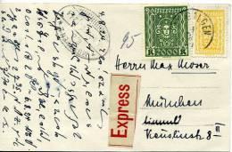 26867 - Österreich - 1924 - Eil-Ansichtskarte Von ST. GILGEN Nach MÜNCHEN - 1850-1918 Imperium
