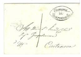 STATO PONTIFICIO - ANNO 1855 - N° 2  1 BAJ   VERDE GRIGIASTRO - GRIGLIA INVERSA DI MACERATA , COMUNE MORROVALLE LINEARE - Etats Pontificaux