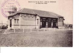 TERGNIER Chemin De Fer Du Nord - Cité De Tergnier - La Salle Des Fetes TAMPON œuvres Sociales