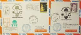 Pro Juventute Sonder-Ballonpost Nr. 24 (1981) - 2 Belege - Per Palloni