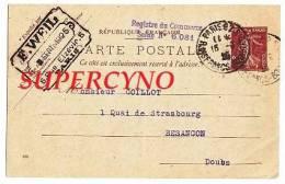 CARTE POSTALE ENTIER POSTAL COMMANDE DE THE TAMPON E.WEIL PARIS - Postcards