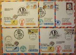 Pro Juventute Sonder-Ballonpost Nr. 30a-c (1985) - 5 Belege - Per Palloni