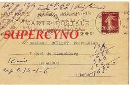 CARTE POSTALE ENTIER POSTAL COMMANDE DE THE TAMPON COOPERATIVE DES MARCHE DE L'EST - Postcards