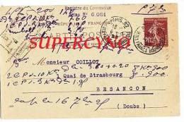 CARTE POSTALE ENTIER POSTAL COMMANDE DE THE TAMPON COOPERATIVE DES MARCHE DE L´EST - Postcards
