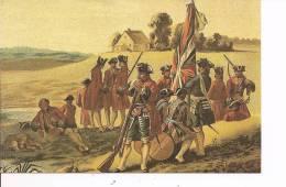 ITALIE , CP  , MILITARIA,  Cie Régiment Garde Suisse  (1735) N° 784/1000 Copies  (775) - Militaria