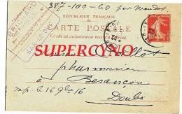 CARTE POSTALE ENTIER POSTAL COMMANDE DE THE TAMPON BRICARD BAR LE DUC - Postcards