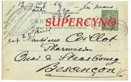 CARTE POSTALE ENTIER POSTAL COMMANDE DE THE COMTOIS DES ALPES ET STE MARIE TAMPON METZGER HAUT RHIN - Postcards