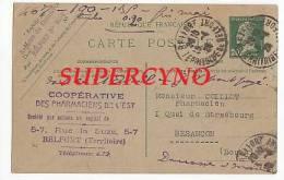 CARTE POSTALE ENTIER POSTAL COMMANDE DE THE COMTOIS TAMPON COOPERATIVE DES PHARMACIENS DE L - Postcards