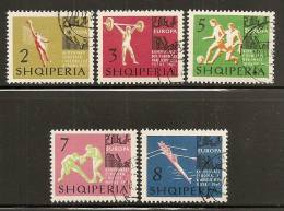 Albania 1963 European Championships, Used (o) - Albanie
