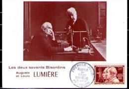 AUGUSTE ET LOUIS LUMIERE, Cachet Du 12 JUIN 55. BESANCON - FDC
