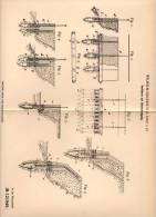 Original Patentschrift - W. Baudisch In Linz A.D., 1899 , Uferbefestigung , Ufer , Fluss , Teich , See , Meer !!! - Architektur