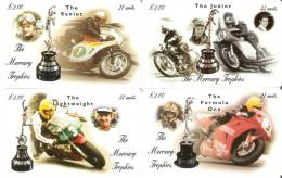 SERIE COMPLETA DE 4 TARJETAS DE MOTOS  ISLA DE MAN AÑO 1999 NUEVAS-MINT   (MOTORBIKE) - Isla De Man