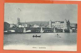 Q0753 Zürich Quaibrücke, Barques Gelaufen In 1910 - ZH Zurich