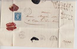 CHER, Dun Le Roi, 1860,  Yv 14I, PC 1149  /1365 - 1849-1876: Klassik