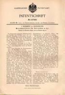Original Patentschrift - J. Schmidt In Groningen , 1899 , Waschmaschine Für Korinthen Und Früchte !!! - Machines