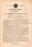 Original Patentschrift - Boris Loutzky In Berlin , 1898 , Anlasser Für Motorwagen , Automobile !!! - Cars
