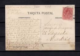MÁLAGA, LA CATEDRAL, CIRCULADA EN 1919, CANCELACIÓN CON AMBULANTE - Málaga