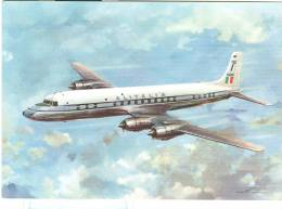 ALITALIA -DOUGLAS  DC - 7C - SETTEMARI - CARTOLINA COLORI N/V, - 1946-....: Moderne