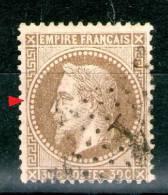 """N°30A°_Brun Clair_Sans Filet Ouest_""""N"""" Avec Pied Sur Une Jambe_Etoile 1_cote 25.00 - 1863-1870 Napoléon III. Laure"""