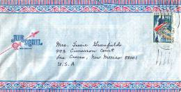 $1.50  America Cup Challenge,Single   On Air Letter To USA - Covers & Documents