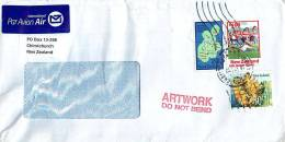 $1 Rugby World,  80 C. Wild Ginger, 20 C. 200 Mile Exclusive Economic Zone On Air Letter Window Envelope - Covers & Documents